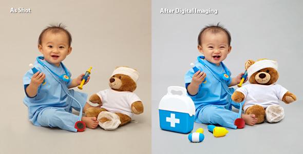 We use photoshop to do retouching work