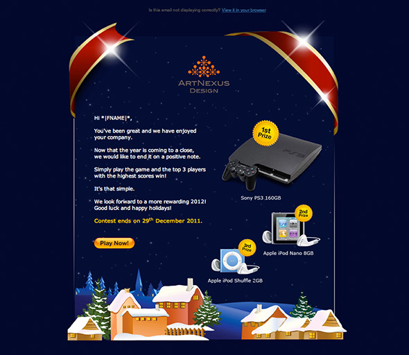 This is Electronic Direct Mailer game developed by Artnexus Design team